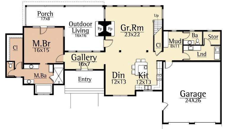 Dulcimer first floor