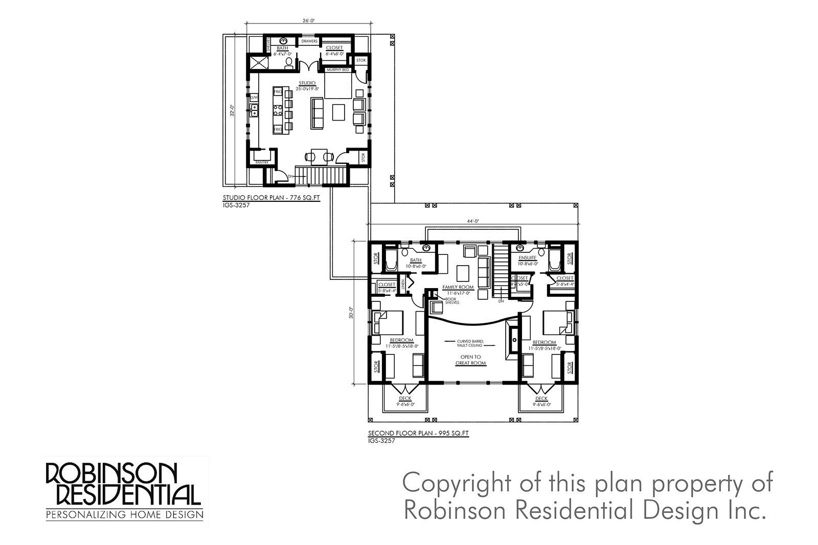 Igs 3257   craftsman home plan   02 second floor plan